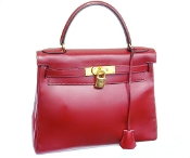 HERMES KELLY BAG 28 BOX CALF ROUGE H RETOURNE