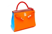 32cm HERMES ARLEQUIN KELLY BAG NEW RARE SPECIAL EDITION 2012
